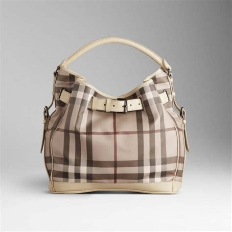 Burberry Trench Hobo Bag by Pscly Burberry Iconic Checks