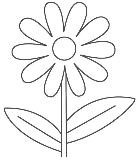 Simple Coloring Pages 5 Coloring Kids Coloring Pages For Flowers