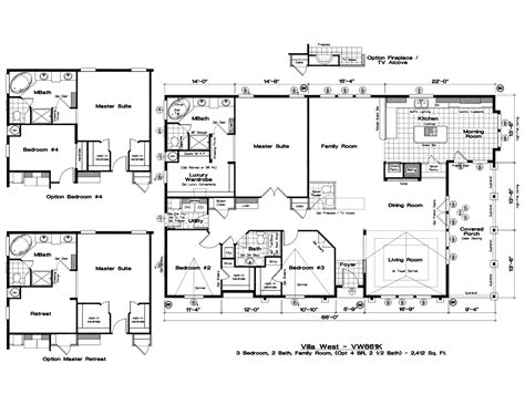 wide open floor plans manufactured home floor plans home design ideas view