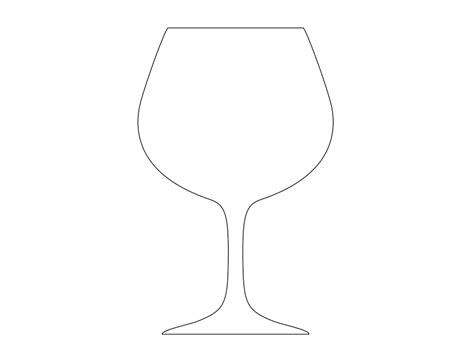 wine glass template white wine glass clipart 36