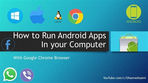 how to run android apps in your pc with chrome browser