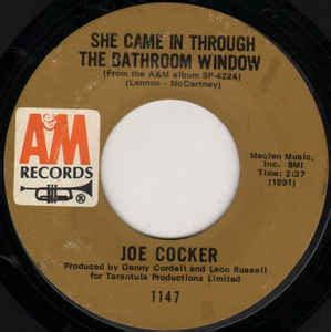 she came in through the bathroom window joe cocker joe cocker she came in through the bathroom window