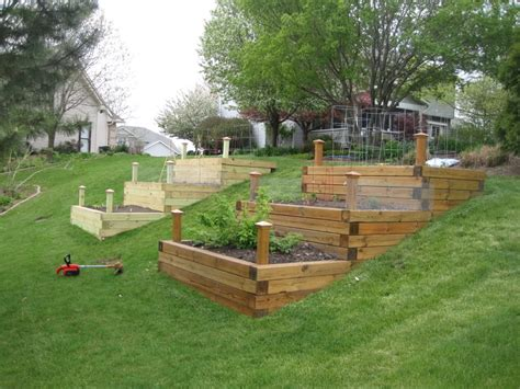 building a backyard garden hillside vegetable garden raised bed garden page 2