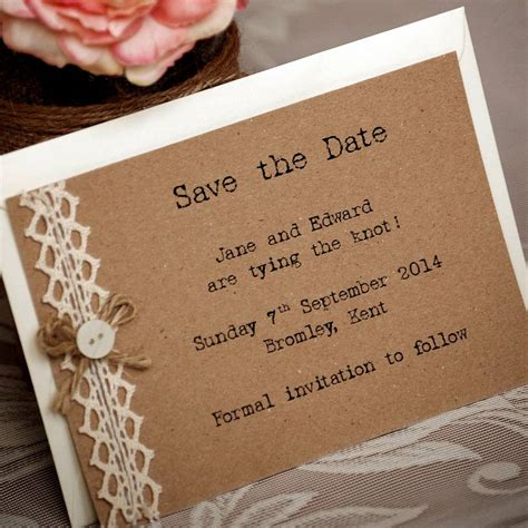 vintage save the date card templates ten country vintage style save the dates by vintage twee
