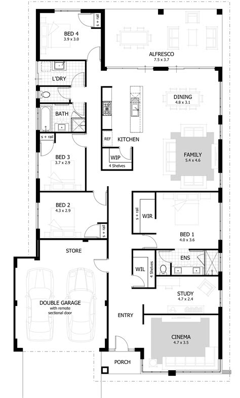floor plans for a four bedroom house 4 bedroom house plans amp home designs celebration homes