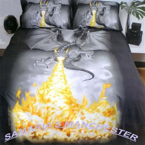 dragon bed dragon fire queen bed quilt cover great gift idea
