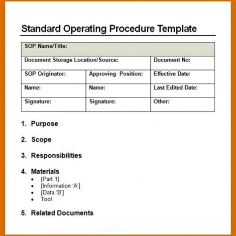 pest policy template standard operating procedure template free