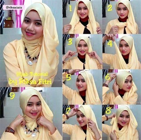 tutorial hijab segi empat yang syar i 37 tutorial hijab pesta syar i untuk pernikahan simple