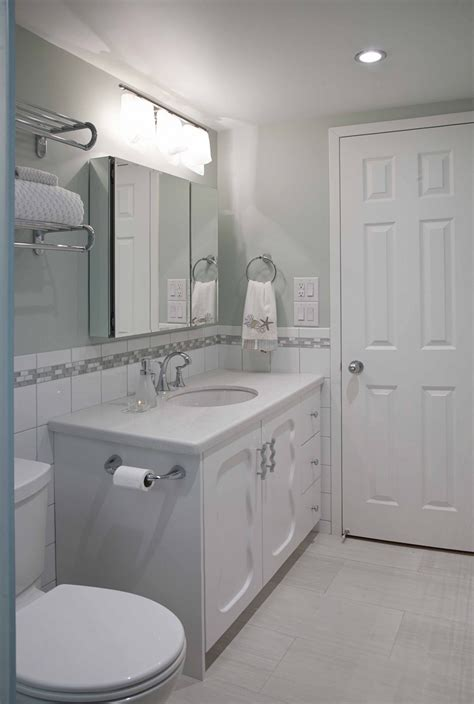 Modern Narrow Vanities With Single Sink Undermount And