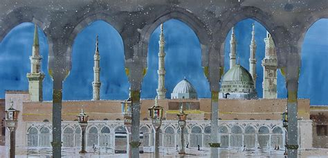 House Plans Online prophet s mosque medina painting by martin giesen