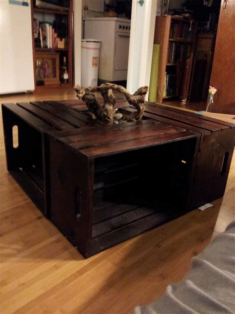 How To Make A Simple Coffee Table How To Make A Coffee Table From Crates