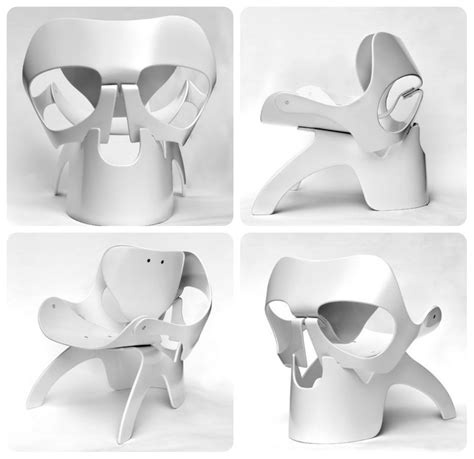 the angular skull armchair 15 badass skull chairs of all time