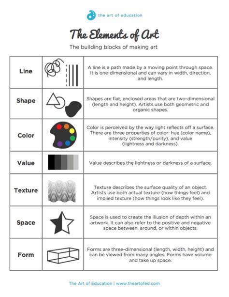 design elements and principles quiz elements and principles of art worksheet lesupercoin