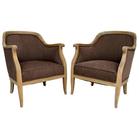 upholstered armchairs for sale pair of antique swedish bleached oak upholstered armchairs