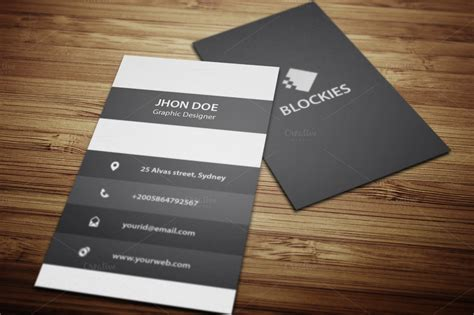 an exclusive vertical business card business card