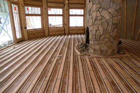log floor rethinking the way you heat home improvement hudson