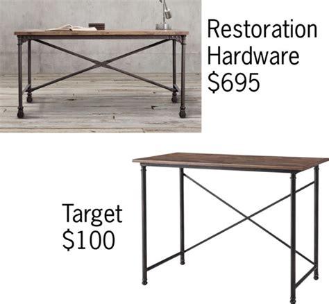 restoration hardware flatiron desk decorating cents look a likes desks