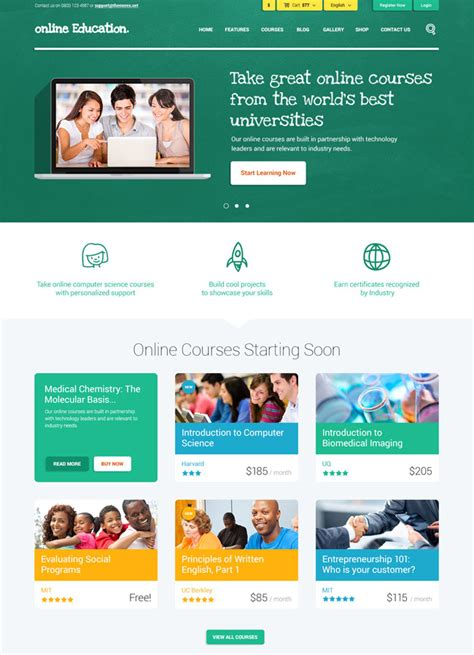 wordpress theme center layout 35 best education wordpress themes 2017 designmaz