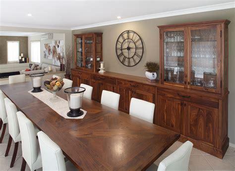 walnut buffet hutch farmhouse dining room sydney