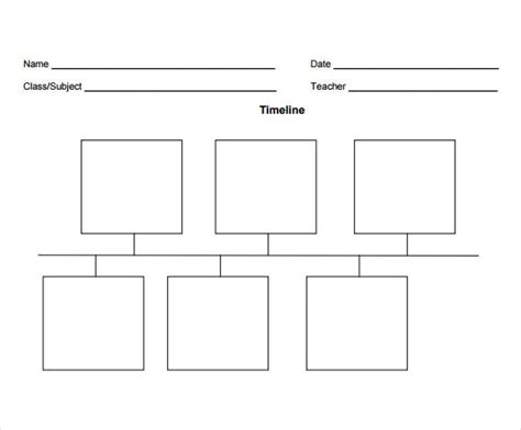 Timeline Template For timeline template for 6 free documents in pdf word