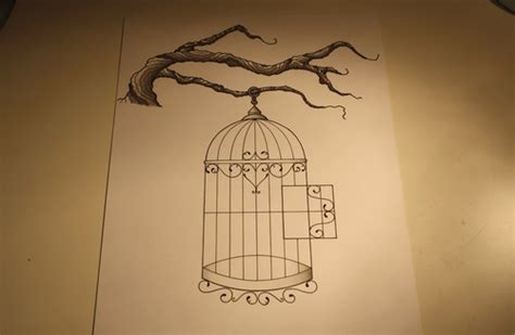 small bird cage tattoo birdcage design shared by mandy on we it