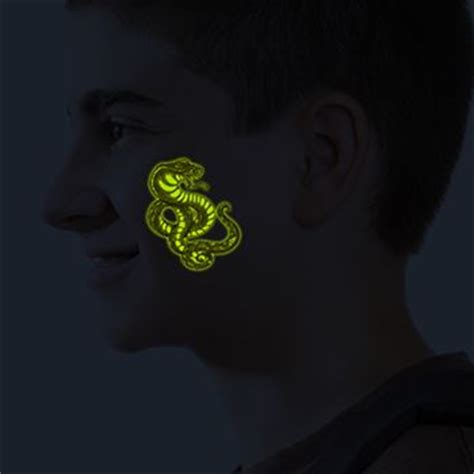 glow in the dark temporary tattoos scorpion cobra glow in the tattooforaweek