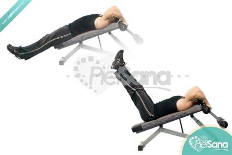 leg raises off bench decline bench leg raise