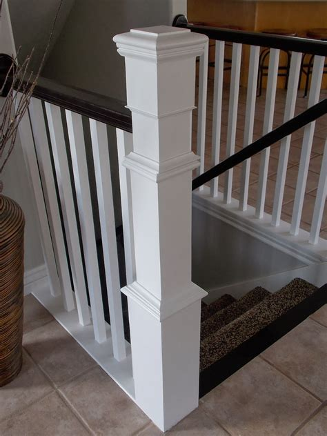 How To Build A Banister remodelaholic stair banister renovation using existing newel post and handrail