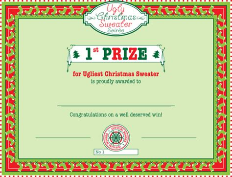 first prize certificate template prize winner certificate template for free