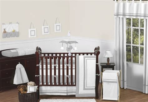 Hotel Crib Bedding by White And Gray Modern Hotel Baby Bedding 9pc Crib Set By Sweet Jojo Designs Only 189 99