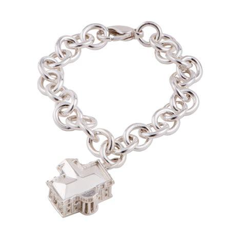3d white house sterling silver charm bracelet s
