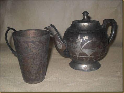 Teko Kuningan Lawas koleksi barang antik set teko cangkir kuningan terjual