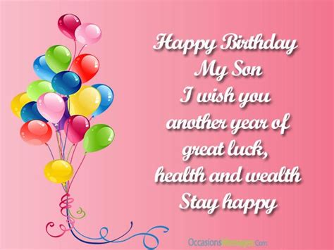 Happy Birthday Wishes For On Top 100 Birthday Wishes For Son Occasions Messages