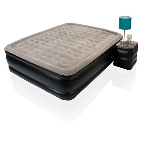 queen air bed sharper image 174 deluxe queen air bed 283666 air beds at