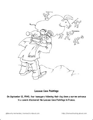 cave art coloring page free coloring pages