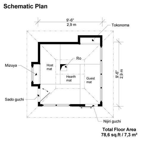 japanese house floor plans japanese tea house plans