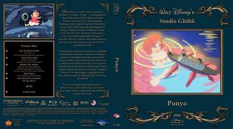 ponyo blu ray slipcover ponyo movie blu ray custom covers ponyo combo dvd
