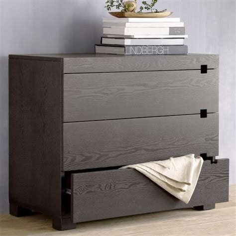 square cutout 3 drawer dresser chocolate west elm