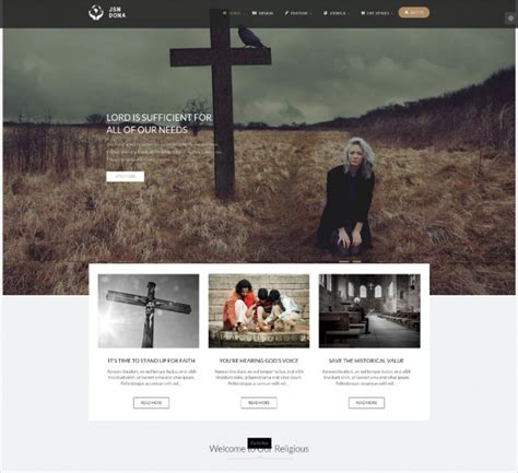 joomla church template 10 free church website themes templates design trends