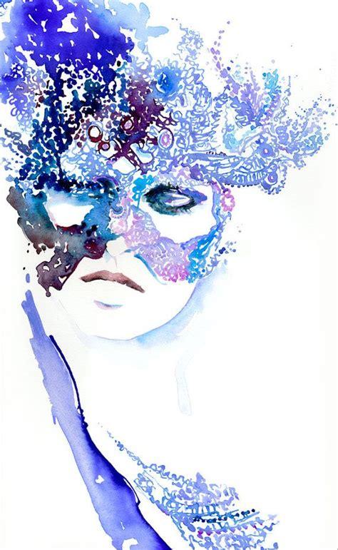 Bilder Malen Ideen 4594 by Watercolour Fashion Illustration Winter Masqueradeink