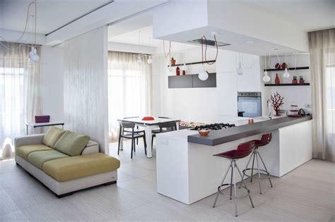 il soggiorno  cucina  vista  proposte da cui trarre
