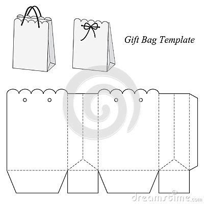 handbag gift box template interesting gift bag template template box bag