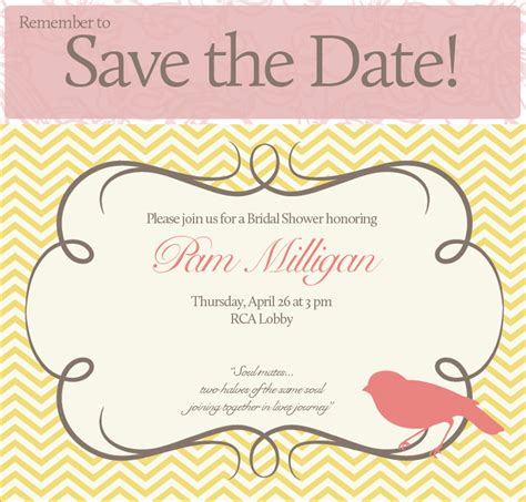 The Wedding Date Shower pam s bridal shower save the date bhansondesigns