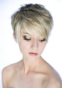 Top heavy layered short hairstyle