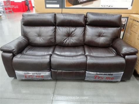 spectra home sofa costco spectra matterhorn leather power motion sofa