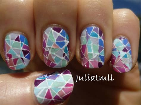 tutorial nail art pita stained glass nail art tutorial youtube