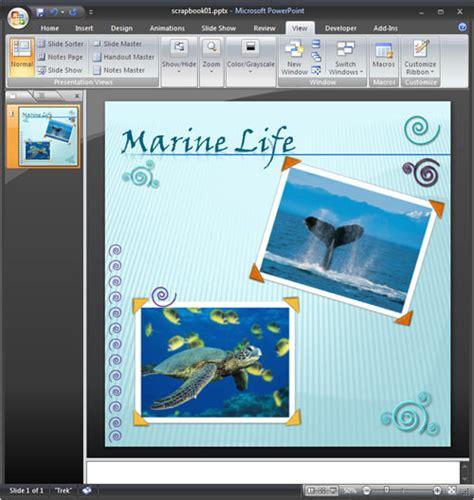 powerpoint scrapbook theme
