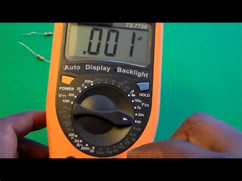 how to test a capacitor using a digital multimeter how to measure capacitance and resistance using a multimeter