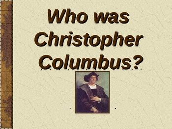 biography of christopher columbus powerpoint christopher columbus homework help