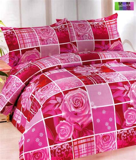 grid pattern bed set wonder rose grid pattern double bed sheet set with two